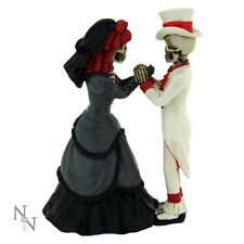 Nemesis Now Devoted To You Day Of The Dead Skeleton Wedding Gift Topper Goth