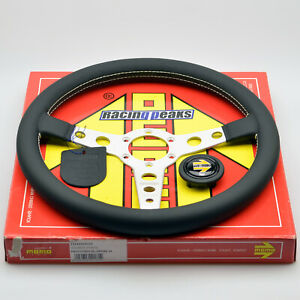 MOMO Prototipo leather steering wheel 350mm SILVER race sport competition tuning