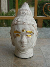 TESTA STATUA SIDDHARTA Buddha scultura terracotta opera artigianale india yoga