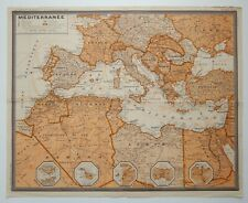 MEDITERRANEAN SEA - Original J.BANETON map Chart - Routes - MALTA TURKEY EUROPE