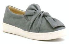 Zapatos planos de mujer de color principal gris de ante talla 38