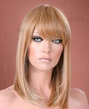 Ladies Long Straight Honey Blonde Fashion Wig Forever Young Wigs