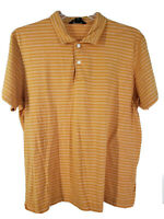 Banana Republic Men Casual Formal Short Sleeve Polo Shirt Size XL Stripes Yellow