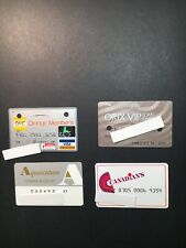 4 Expired Credit Cards For Collectors - International Lot 4 (3266)