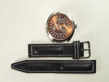 Mechanical watch Raketa Antarctica penguines 24 h bronze metallic dial, 39 mm.