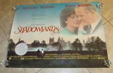 SHADOWLANDS movie poster ANTHONY HOPKINS poster, DEBRA WINGER
