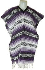 Traditional Mexican Poncho - PURPLE - ONE SIZE FITS ALL Blanket Serape Gaban