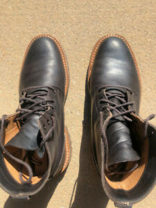 Tricker's x Division Road black kudu leather boots