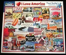 I ❤ AMERICA 1000 Piece Jigsaw Puzzle * White Mountain 100% Complete USA Icons