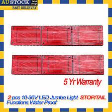 2 X LED Jumbo Tail Light Trailer Caravan Truck UTE Camper Stop Tail Waterproof