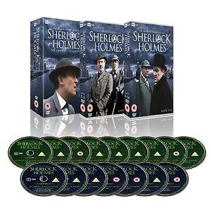 SHERLOCK HOLMES COMPLETE SERIES 1-4 DVD BOX SET Season 1 2 3 4 Original UK Reles