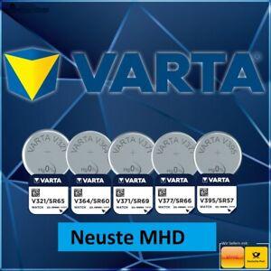 Batterie Knopfzellen Uhren Varta 321 364 371 377 395 V321 V364 V371 V377 V395