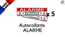 """5 Autocollant/Sticker dissuasif  """" ALARME """"  SUPER PROMO   !!!"""