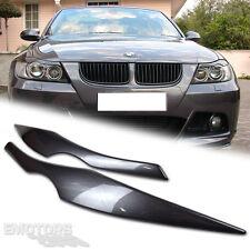 06-11 PAINTED BMW E90 4D Sedan Eyelids Eyebrows Headlight Cover 328i 335i Ω