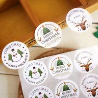 90 piezas pegatinas de sello de feliz Navidad etiquetas de muñeco de nieve  PDQ