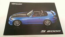 2005 Honda S2000 Mugen Power Tuner Catalog Brochure Japan HTF