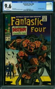 FANTASTIC FOUR #68 CGC 9.6 WHITE PAGES THING 2ND HIGHEST GRADED CGC #1245925014