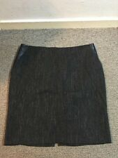 M&S Autograph Ladies Skirt With Leather Panels Size 16 New No Tags