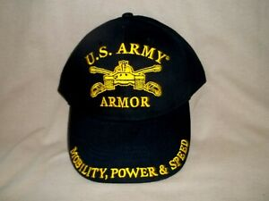 Army Armor, Colorful Ballcap Set in Black. Features a Tank on Front
