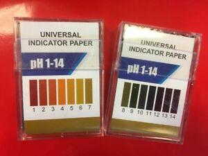 Universal pH Paper Indicator, pH 1-14 full range, 200 Strips in a Tidy Case