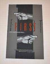 Cuban original SILKSCREEN movie poster.Handmade art.First Asi como nosotros.