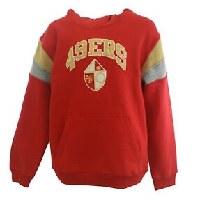 San Francisco 49ers Official NFL Apparel Kids Youth Size Hooded Sweatshirt New