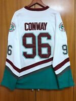 Mighty Ducks Movie Jersey #96 Charlie Conway Hockey Jersey 5 Styles All Stitched