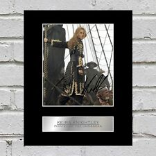 Keira Knightley Signed Photo Display Pirates of the Caribbean