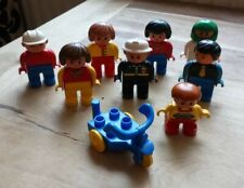 9 VINTAGE LEGO DUPLO FIGURES ASSORTED CHILDREN FIREMAN TRICYCLE SET 1