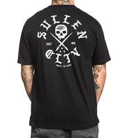 Sullen Clothing Mortar Built To Last Tattoo Skull Art Punk Mens Shirt SCM1114