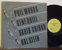 "PHIL WOODS-SAHIB SHIHAB-GENE QUILL ""Four Altos"" RARE EXC PRESTIGE LP Mal Waldron"