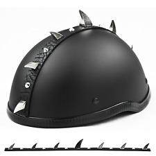 "Spikes Warhawk / Mohawk  Claws & Studs / CHROME/METAL Helmet Spikes  1 1/8"" Long"