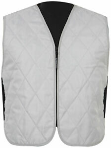 Fieldsheer Silver Mens XL Iceberg Motorcycle Vest Extra Large