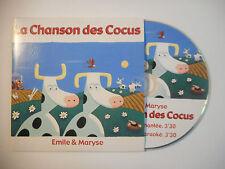 EMILE & MARYSE : LA CHANSON DES COCUS ♦ CD SINGLE PORT GRATUIT ♦