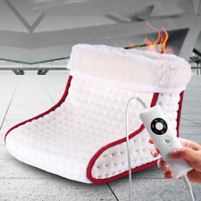 Heated Electric Warm Cosy Foot Warmer Washable Heat Settings Slippers Relaxing