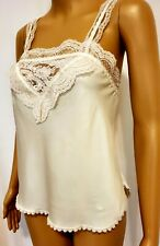 Christian Dior Vintage Ivory Camisole Lace Trim Size M