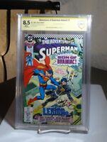 The Adventures of Superman Annual #2 VF+ CBCS 8.5 SIGNED Jurgens 1990 DC LEGION
