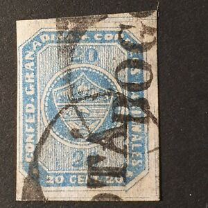 Colombia 1859 Coat of Arms Imperf Stamp SG5 Used