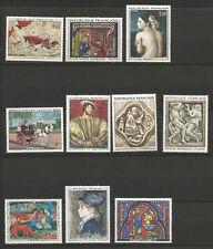 France 1964/69 12 grands timbres non oblitérés oeuvres d'Arts /T6466
