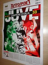 POSTER TUTTOSPORT 50X35 JUVENTUS CAMPIONE D'ITALIA 2015 SCUDETTO N°33 JUVE