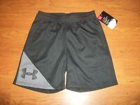 NWT boys Under Armour heatgear shorts, size 2t 3t black/gray