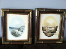 PAIR OF VINTAGE OIL PAINTINGS OF THE SHORE BY SANDLER & LICATA