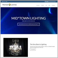 "HOME LIGHTING Website Business. ""300 Hits A Day"" Fully Stocked AFFILIATE"