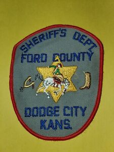 Vintage Dodge City Kansas Ford County Sheriff's Dept Patch