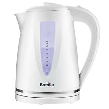 Breville 1.7L Electric Jug Kettle 3000W Limescale Filter Cord Storage White New