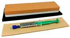 Messer-Schärf-Set 3-teilig Schleifstein Zische Korund + Paste + Leder