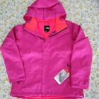 The North Face Womens Moonstruck Ski Jacket Pink Zip Up Hooded Insulated L New