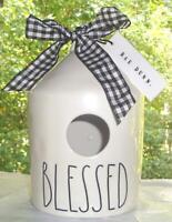 Rae Dunn LL BLESSED Round Ceramic Birdhouse NEW Autumn Halloween & Thanksgiving