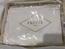 $1200 Frette Italy Nwt (1) 600Tc Grace King Duvet Cover Ivory Sateen