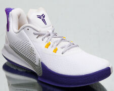 Nike Mamba Fury Men's Kobe Bryant White Grey Purple Basketball Sneakers Shoes